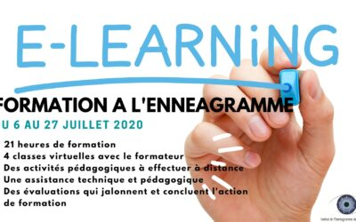 L'ennéagramme en e-learning du 6 au 27 juillet 2020